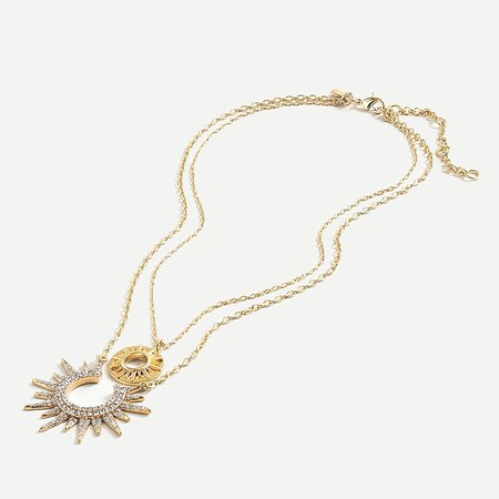 J.Crew: Starburst Layered Necklace For Women gold