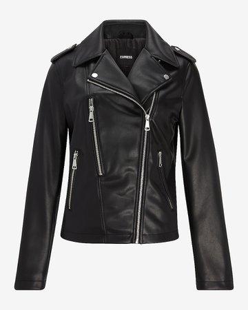 Faux Leather Moto Jacket | Express
