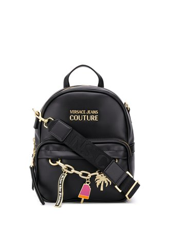Versace Jeans Couture Charm Detail Medium Backpack - Farfetch