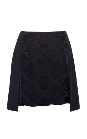 Plexi Embroidered Mini Skirt by David Koma | Moda Operandi