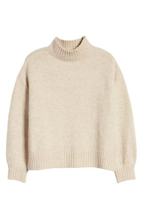 J.O.A. Mock Neck Sweater cream