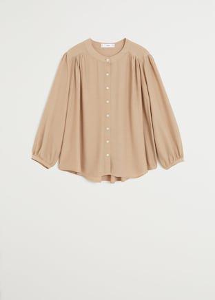 Flowy blouse - Women   Mango USA brown