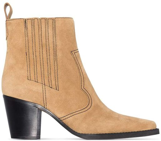 Western 70mm ankle boots