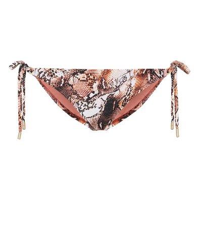 Cancun Snake-Print Bikini Bottoms | Melissa Odabash