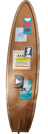 Surfboard Corkboard | Decorist