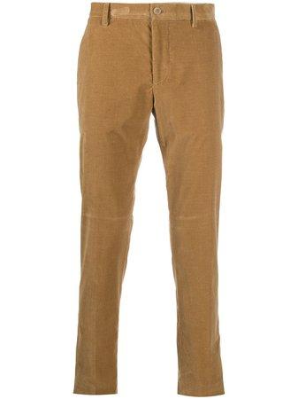 ETRO mid-rise straight leg corduroy trousers - FARFETCH
