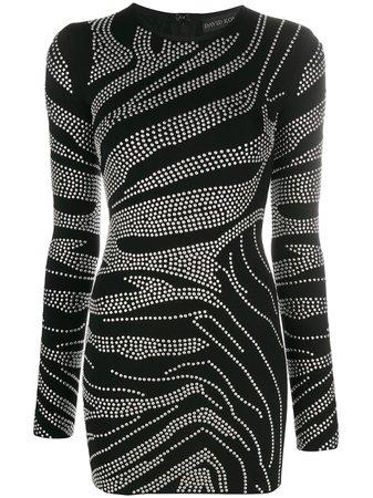 David Koma Studded Fitted Dress - Farfetch