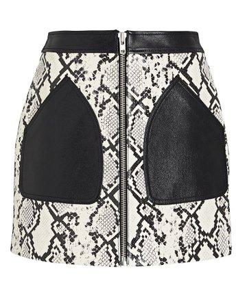 McQ by Alexander McQueen Yael Leather Skirt | INTERMIX®