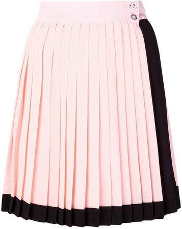 high-waist pleated skirt