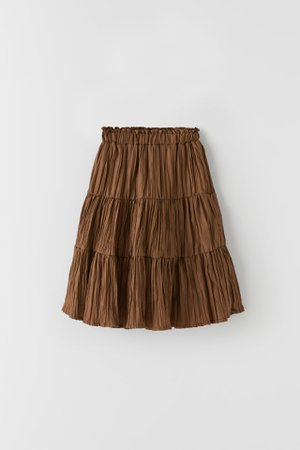 PLEATED MIDI SKIRT | ZARA United States