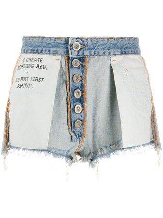 blue UNRAVEL PROJECT Reversed short shorts
