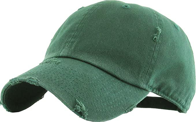 *clipped by @luci-her* KBE-Vintage BDM Vintage Washed Cotton Dad Hat Baseball Cap Polo Style Green: Clothing