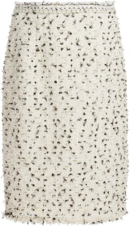 Giambattista Valli Knee-Length Tweed Pencil Skirt