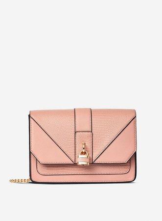Blush Padlock Cross Body Bag | Dorothy Perkins