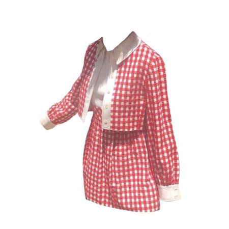 red gingham png dress
