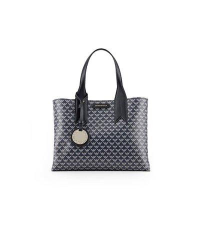 Emporio Armani Monogram Blue Beige Black Handbag