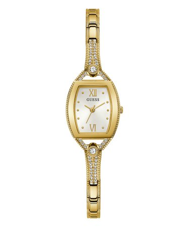 GUESS Womens Petite Gold-Tone Stainless Steel Glitz Bangle Watch 22mm & Reviews - Watches - Jewelry & Watches - Macy's