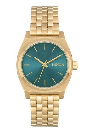 Medium Time Teller Watch | Light Gold / Turquoise | Stainless Steel | Men's & Women's | Nixon US