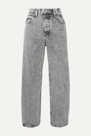Alexander Wang | Curb cropped acid-wash high-rise straight-leg jeans | NET-A-PORTER.COM