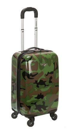camo suitcase