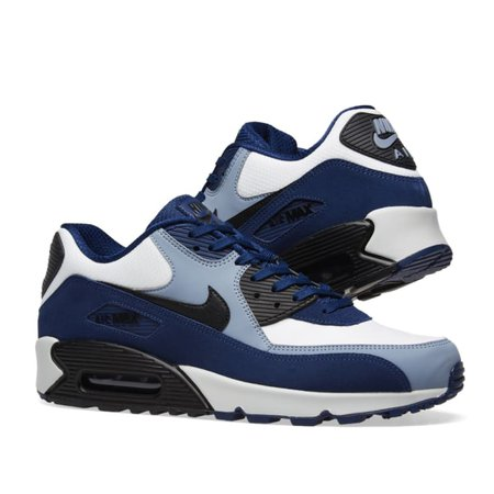 Nike Air Max 90 Leather (Blue, Black, Slate & Platinum)   END.