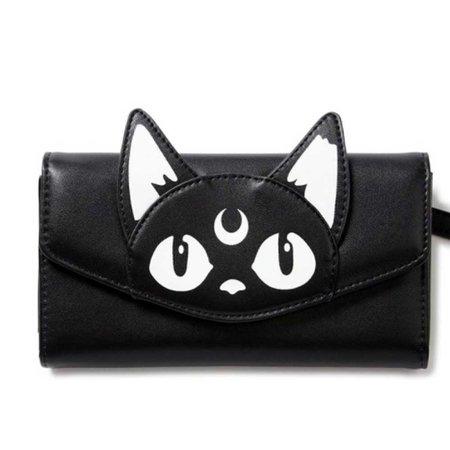 Grunge cat wallet