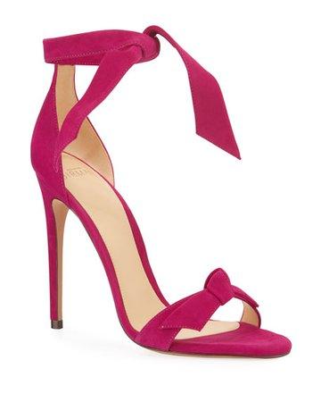 Alexandre Birman Clarita Knotted Suede Sandals
