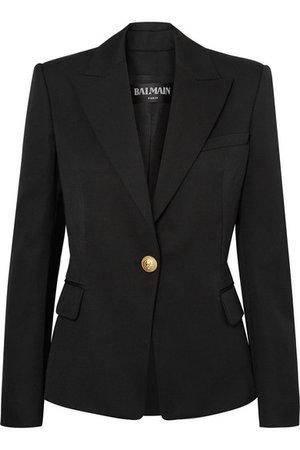 Balmain | Wool-twill blazer | NET-A-PORTER.COM