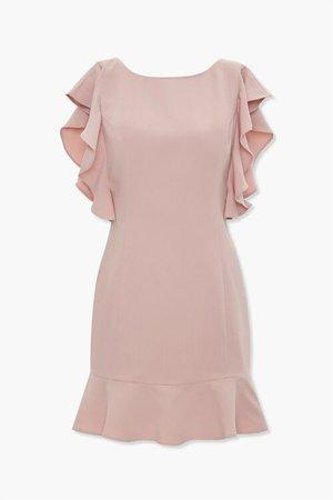 Ruffle-Trim Sheath Dress