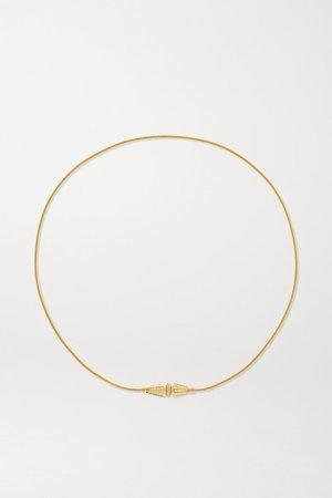 Boucheron | Jack de Boucheron Triple Wrap 18-karat gold diamond bracelet | NET-A-PORTER.COM