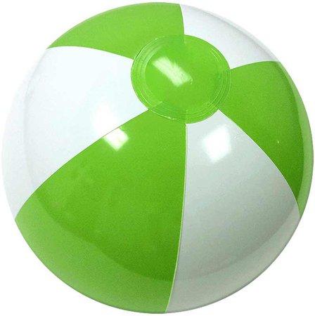 Lime Green & White Beach Ball