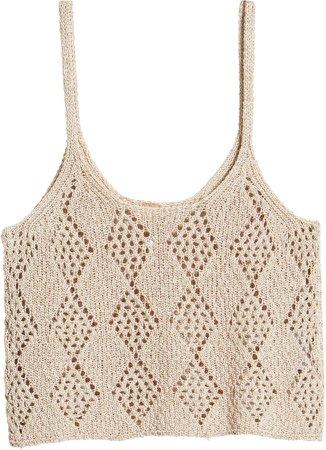Crochet Crop Tank Top