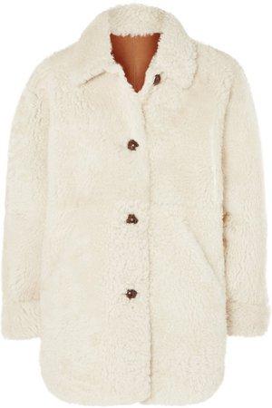 Isabel Marant | Sarvey oversized shearling coat | NET-A-PORTER.COM