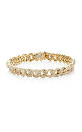 Yellow Gold and Diamond Chain Link Bracelet