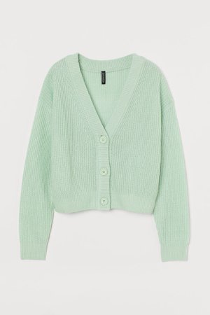 Cropped Cardigan - Green