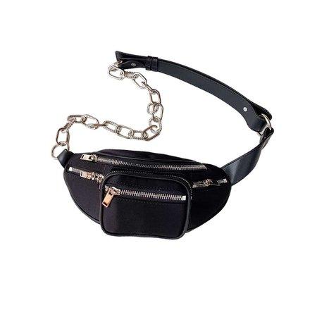 JESSICABUURMAN – PEGGY Zip Embellished Satin Waist Belt Bag - Small
