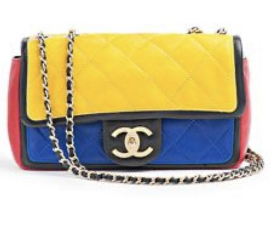 Yellow, Red and Blue Chanel Purse