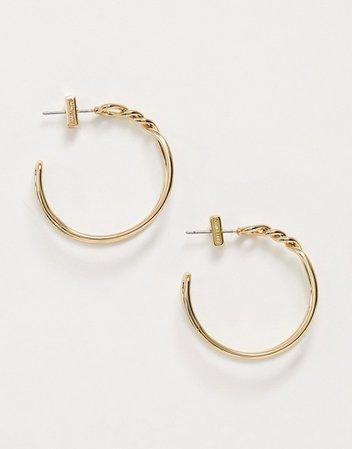 AllSaints knot twist hoop earrings | ASOS