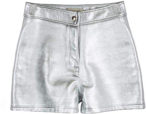 Paloma Silver Leather Shorts