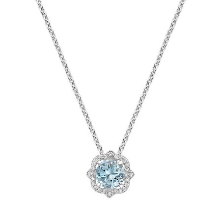 light blue diamond necklace - Google Search