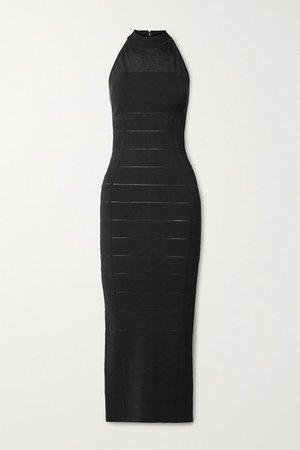 Bandage Halterneck Gown - Black