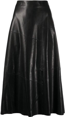 Arma A-line leather skirt