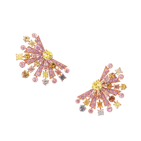 Multi-coloured Diamond Earrings, 27.62 cts | Graff