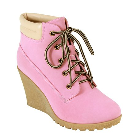 Pink Wedges Boots