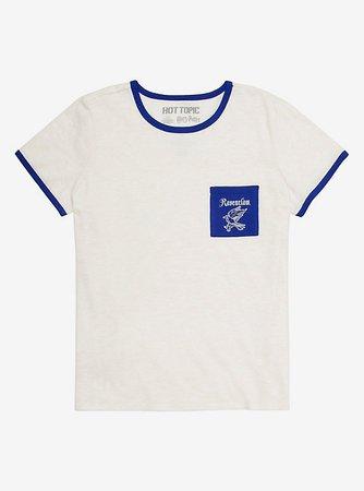 Harry Potter Ravenclaw Pocket Girls Ringer T-Shirt