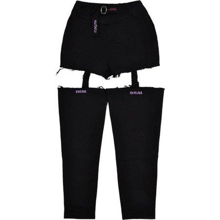 pants black straps