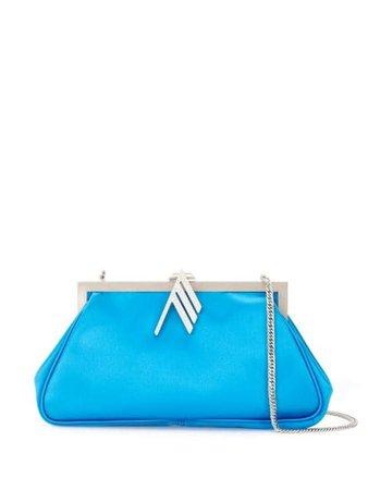 Blue The Attico snap clasp shoulder bag - Farfetch