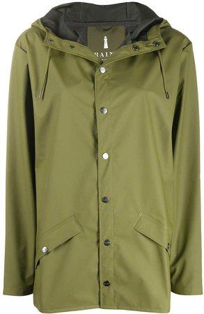 Drawstring Hooded Raincoat