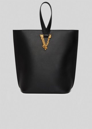 Versace Virtus Large Bucket Bag for Women   US Online Store