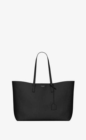 Saint Laurent Shopping Saint Laurent Tote Bag In Black Leather | YSL.com